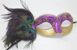 Purple and Gold Masquerade Mask | Masks and Tiaras